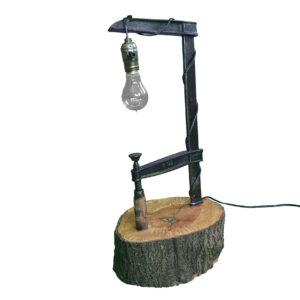Schraubzwinge Lampe mit Sockel