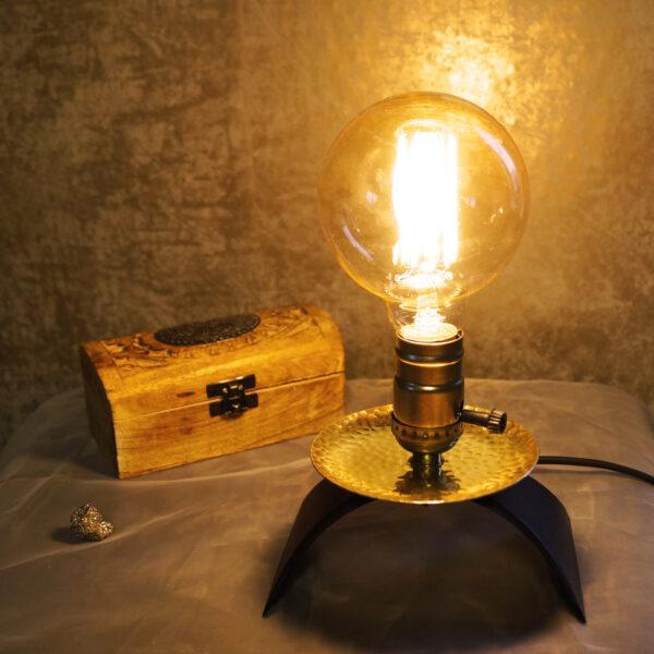 Stehlampe Kupfer Kerzenständer Glühbirne Upcycling