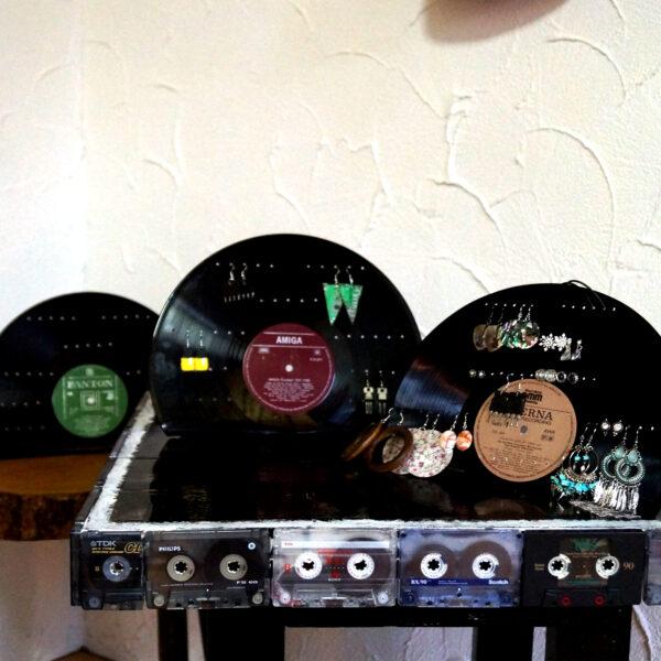 Schallplatten Schmuck Halter Upcycling Retro