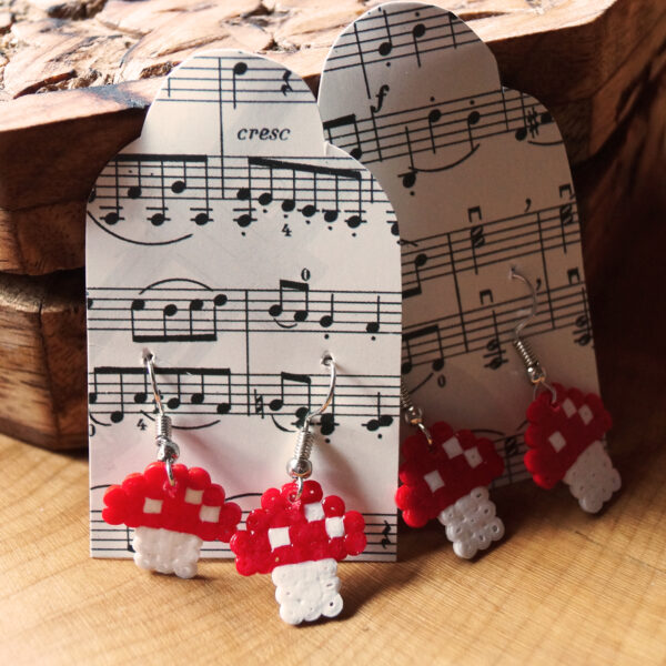 Ohrringe Bügelperlen Fliegenpilz Schick Selfmade