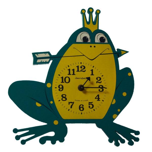 Wanduhr Frosch König Verrückt