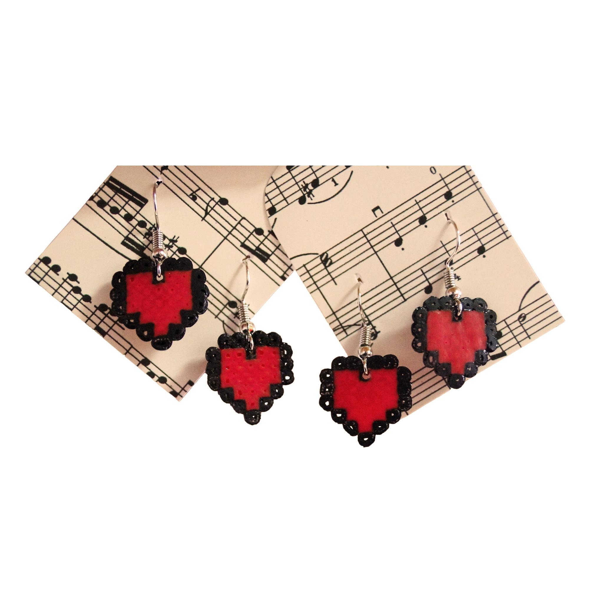 Ohrringe Bügelperlen Herz Schick Selfmade