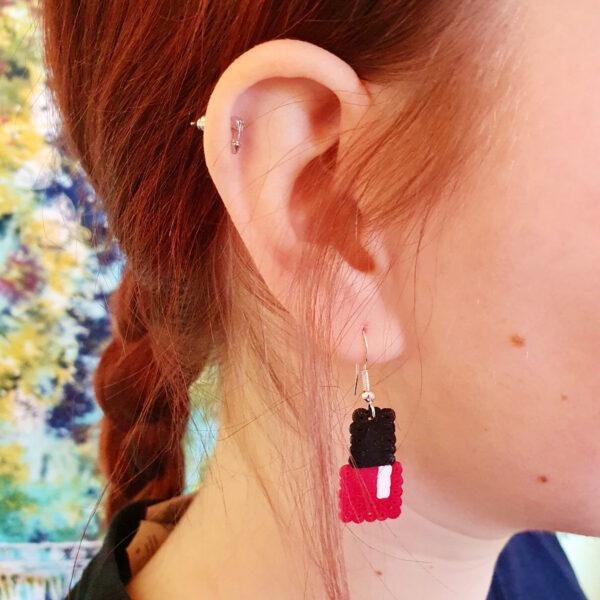 Ohrringe Bügelperlen Nagellack Schick Selfmade