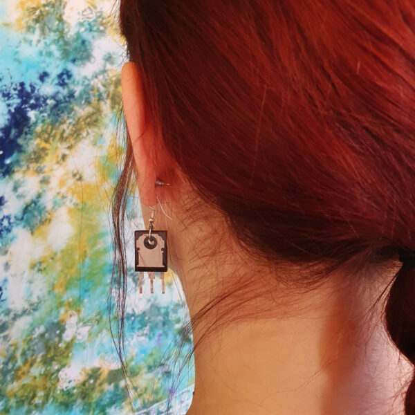 Ohrringe Hänger Transistoren außergewöhnlich Schmuck Upcycling
