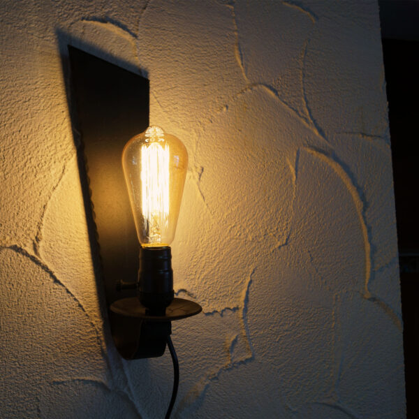 Lampe Wand Kerze Vintage Edison LED Mittelalter
