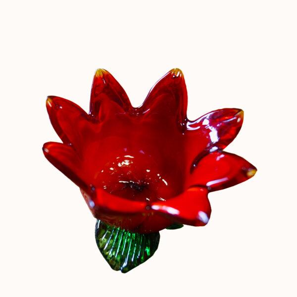 Schale oder Teelichthalter aus Glas in Form einer Blume