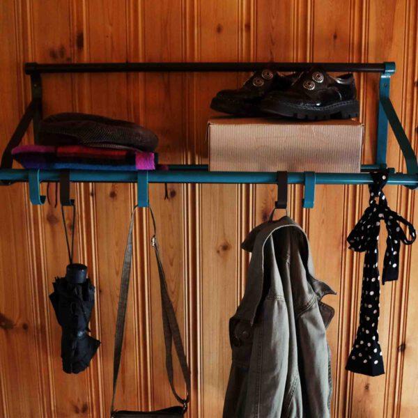 Garderobe Wand Hängen Gestreift Ablage Wohnen